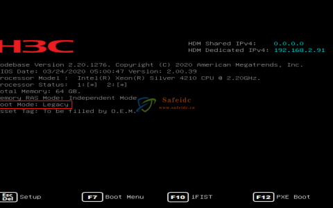 H3C UniServer R系列做RAID(P460-M4)Legacy模式