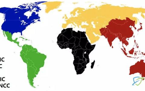 ASN申请全球5大RIR机构
